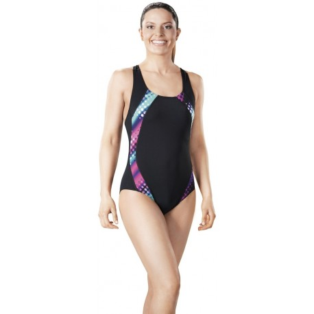 Polka Pacer Panel Hydro Swimsuit