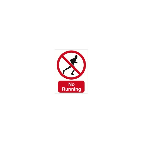 Sign - No Running
