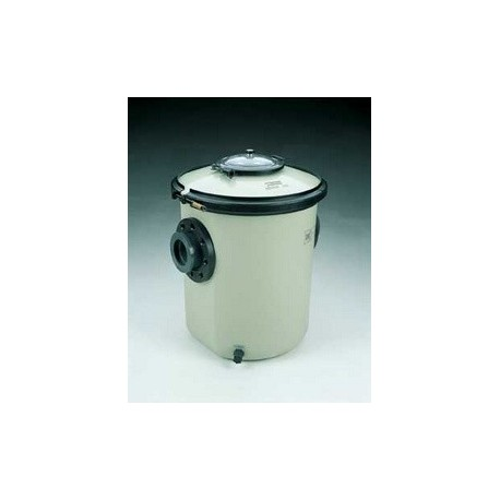 33 litres with sight glass lid - Strainer in polyester and fibreglass