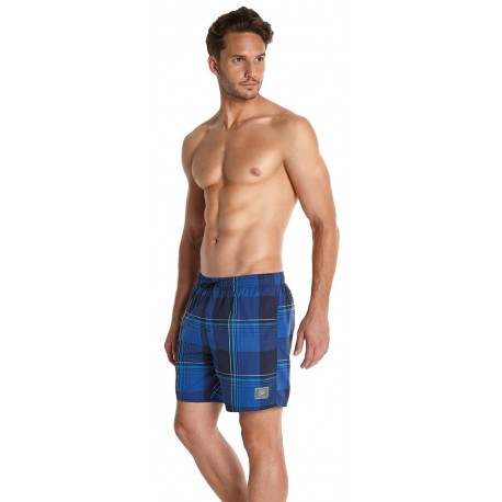 Navy Speedo Mens YD Check Watershorts 16